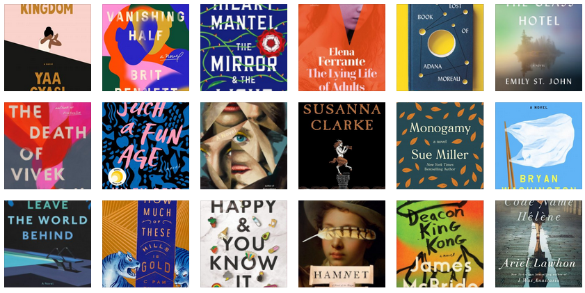 BOOKPAGE'S 20 BEST NOVELS OF 2020