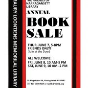 THE FRIENDS OF NARRAGANSETTLIBRARY  ANNUAL BOOK SALE