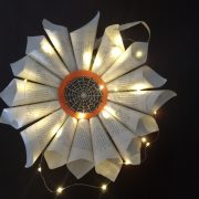 LIGHTED PAPER HALLOWEEN WREATH
